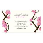 Cherry Blossom, Sakura Flowers - Pink White Brown