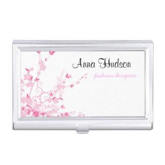 Cherry Blossom, Sakura Flowers - Pink White Business Card Holders