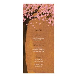 Cherry Blossom Sakura Sunset Watercolor Menu Card Custom Rack Cards
