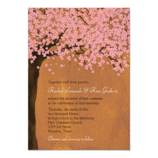 Cherry Blossom Sakura (Sunset) Watercolor Wedding Card