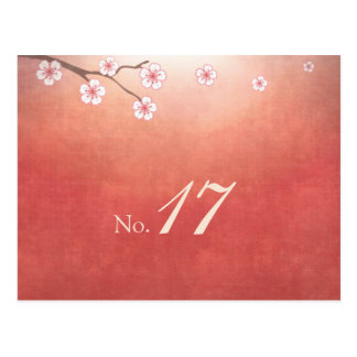 Cherry Blossom Sakura Table Number Card