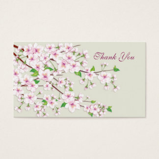 Cherry Blossom (Sakura).Thank you Wedding/Gift Tag Business Card