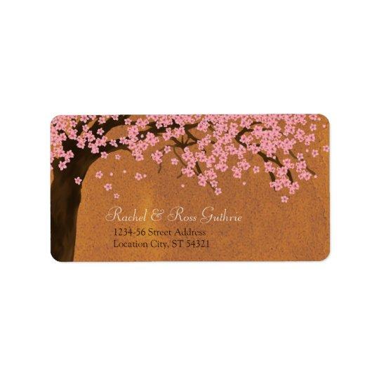 Cherry Blossom Sakura Watercolor (Sunset) Address Address Label
