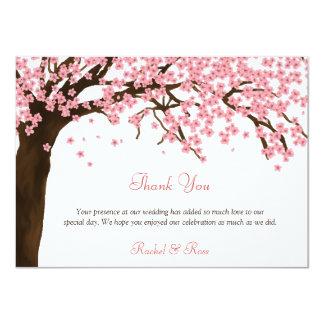 Cherry Blossom / Sakura Watercolor Thank You 11 Cm X 16 Cm Invitation Card
