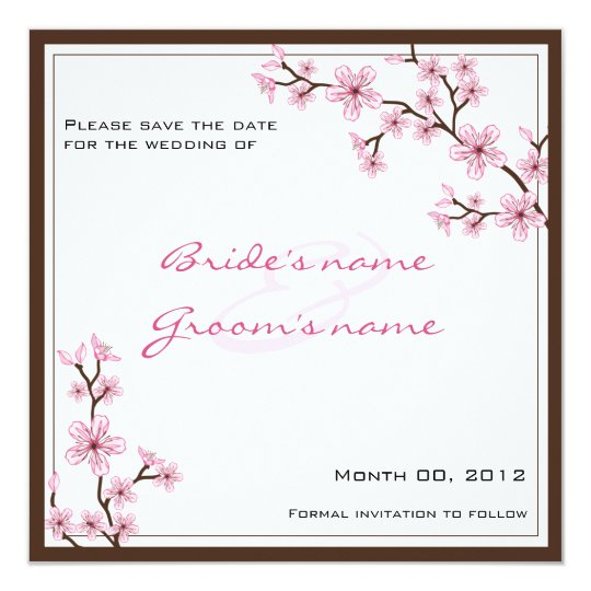 Cherry Blossom Save the Date cards