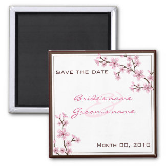 Cherry Blossom Save the Date magnets