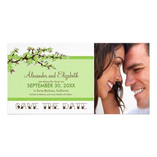 Cherry Blossom Save the Date Photocard (apple) Custom Photo Card