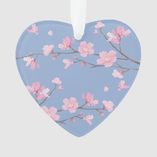 Cherry Blossom - Serenity Blue - HAPPY ANNIVERSARY Ornament