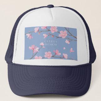 Cherry Blossom - Serenity Blue Trucker Hat