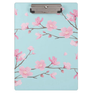 Cherry Blossom - Sky Blue Clipboard