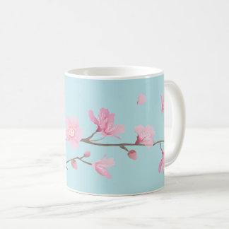 Cherry Blossom - Sky Blue Coffee Mug