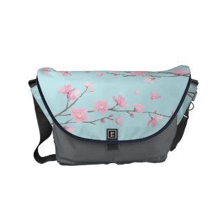 Cherry Blossom - Sky Blue Commuter Bag