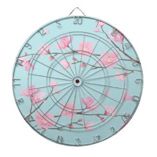 Cherry Blossom - Sky Blue Dartboard