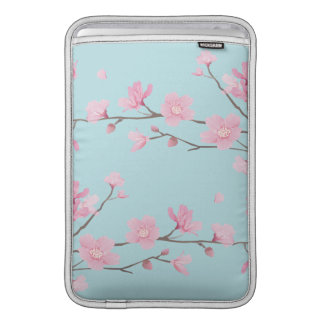 Cherry Blossom - Sky Blue MacBook Sleeve