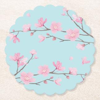 Cherry Blossom - Sky Blue Paper Coaster