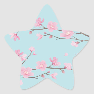 Cherry Blossom - Sky Blue Star Sticker