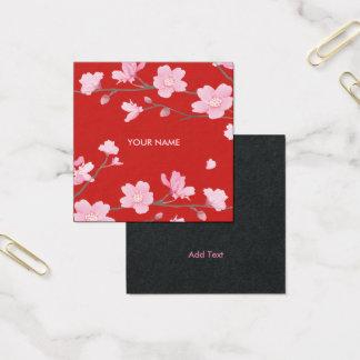 Cherry Blossom Square Business Card