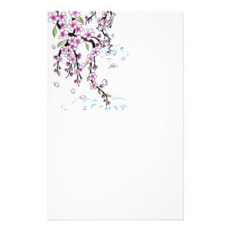 cherry blossom stationary paper