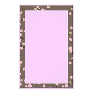 cherry blossom stationery design
