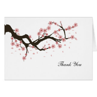 Cherry Blossom Thank You Card