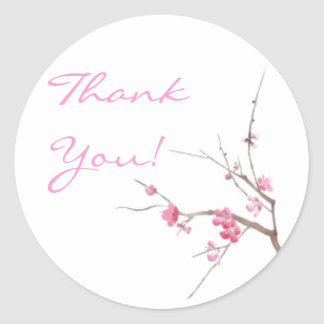Cherry Blossom Thank You Sticker