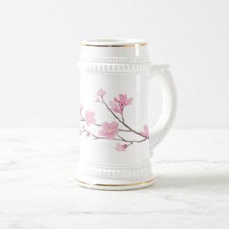 Cherry Blossom - Transparent-Background Beer Stein