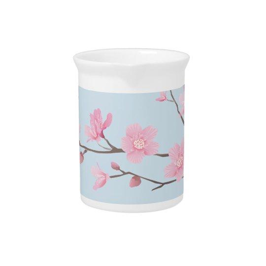 Cherry Blossom - Transparent-Background Beverage Pitcher