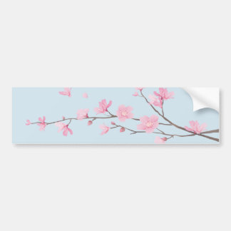 Cherry Blossom - Transparent-Background Bumper Sticker