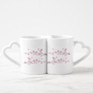 Cherry Blossom - Transparent Background Coffee Mug Set