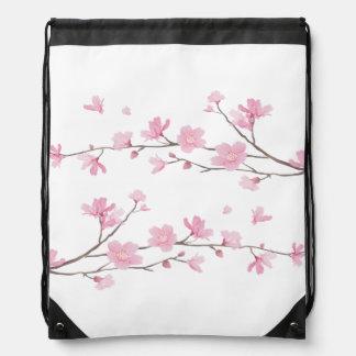Cherry Blossom - Transparent Background Drawstring Bag