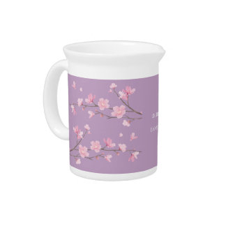 Cherry Blossom - Transparent-Background Drink Pitchers
