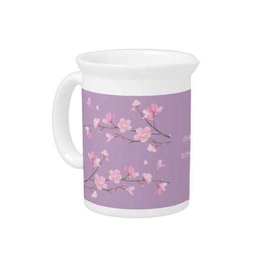 Cherry Blossom - Transparent-Background Drink Pitchers