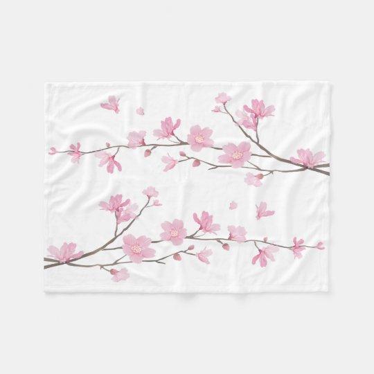Cherry Blossom - Transparent Background Fleece Blanket