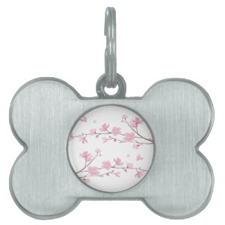 Cherry Blossom - Transparent Background Pet Name Tag