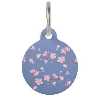 Cherry Blossom - Transparent Background Pet Nametag