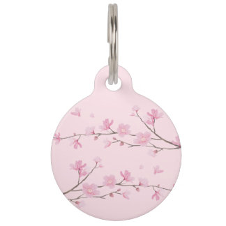 Cherry Blossom - Transparent Background Pet Tag