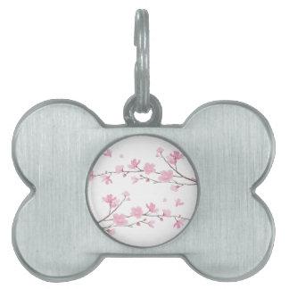 Cherry Blossom - Transparent Background Pet Tag