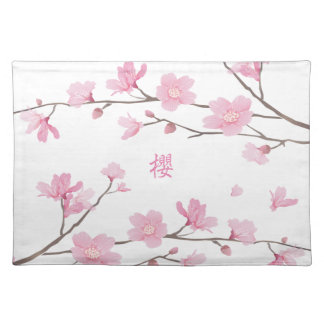 Cherry Blossom - Transparent-Background Placemat