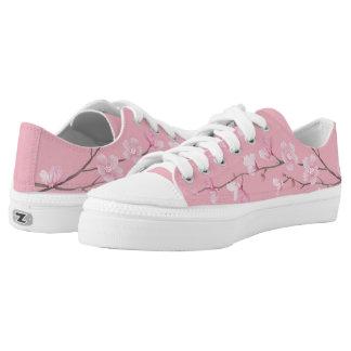 Cherry Blossom - Transparent Background Printed Shoes
