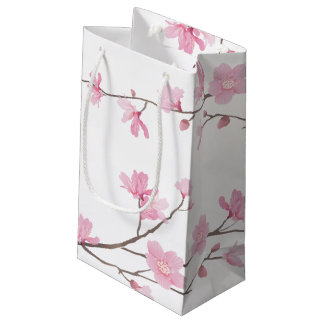 Cherry Blossom - Transparent Background Small Gift Bag