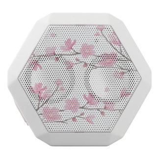 Cherry Blossom - Transparent Background White Bluetooth Speaker