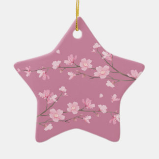 Cherry Blossom - Transparent - HAPPY BIRTHDAY Christmas Ornament