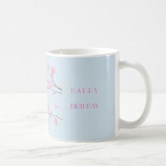 Cherry Blossom - Transparent-HAPPY BIRTHDAY Coffee Mug