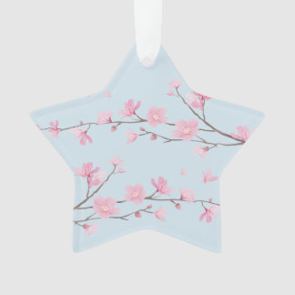 Cherry Blossom - Transparent - HAPPY BIRTHDAY Ornament