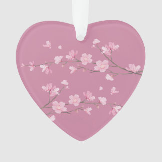 Cherry Blossom - Transparent - Just Married Ornament