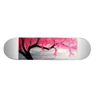 Cherry blossom tree 21.3 cm mini skateboard deck