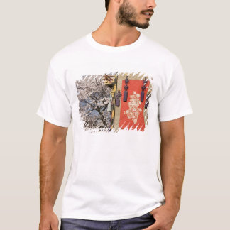 Cherry blossom tree and silk tapestry of T-Shirt