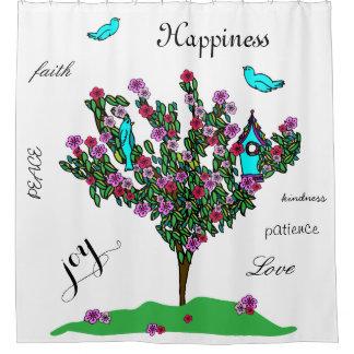 Cherry Blossom Tree Bird Fruit of Spirit Shower Curtain