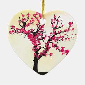 Cherry Blossom Tree Ceramic Heart Decoration