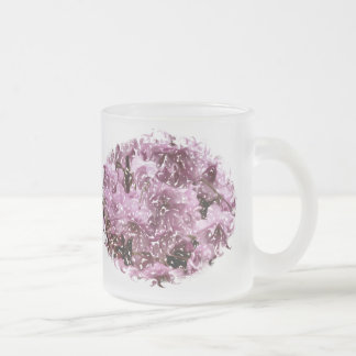CHERRY BLOSSOM TREE FROSTED GLASS COFFEE MUG